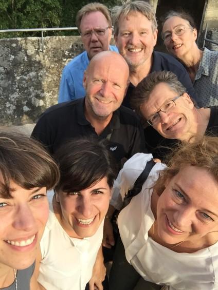 """Selfie """"Team Aarhus, Graz, Coburg und München"""""""